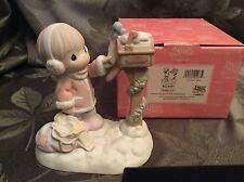 Precious Moments Scatter Joy Girl At Mailbox MIB 4024087