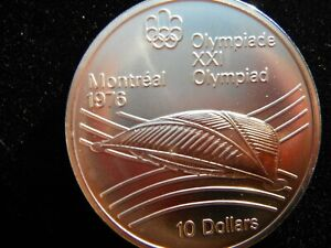 CANADA MONTREAL XXI SUMMER OLYPIC GAMES SILVER COIN 1976 10 DOLLARS COIN RARE