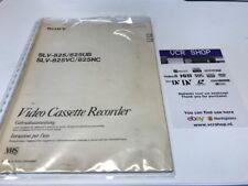 Manual: Sony SLV-825/825UB SLV-825VC/825NC - NL, IT