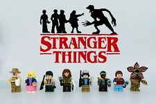 STRANGER THINGS 8pcs Minifigures Custom Set
