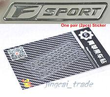 Pair (2 pcs) Polished Chrome F Sport Logo Car Emblem Sticker Decal for Lexus - H