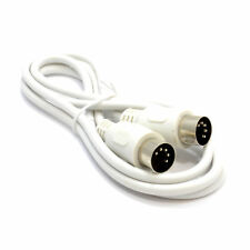 1.2m SoundLab MIDI 4 Core Screened 5 Pin Din To 5 Pin Din Lead WHITE [007167]