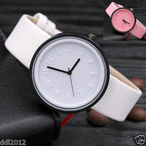 2017 Fashion Women Canvas Band Numerals Dial Casual Quartz Analog Wrist Watches