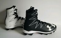 Under Armour Highlight NEW 1269697-011 Football Cleat Black White Youth Size 1.5