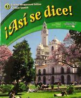 Asi Se Dice! Level 3 Teacher Wraparound Edition Glencoe Spanish