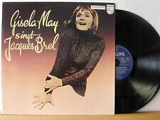 "12"" LP - GISELA MAY - Singt Jacques Brel - Philips Club-Edition 1981  VEB Berlin"