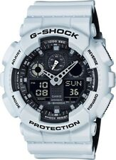 BRAND NEW CASIO G-SHOCK GA100L-7A WHITE/BLACK ANA-DIGI RESIN MENS WATCH NWT!!!