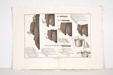 Encyclopédie Diderot-d'Alembert 3 pl XVIII° Bonneterie Habillement Maille