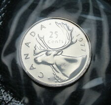 RCM - 1977 - 25-cents - Caribou - Proof Like - Sealed in original cellophane