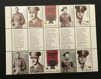 Australia Post MINI Sheet - 2000 - Australian Victoria Cross - WAR MEDALS - MNH