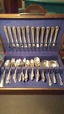 Vintage 1940 Silver Plate Flatware Service for 12 + 13 Serving Pieces