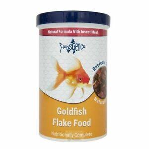 Fish Science Goldfish Flake Food 200g Tub Aquarium FishScience Feed Insect Meal