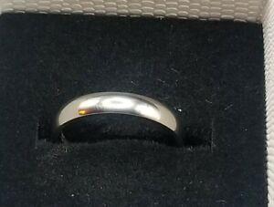 TIGRADE 2mm  Titanium Ring Plain Dome High Polished  Band 9.5