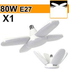 New ListingE27 Led Garage Light Bulb Deformable Ceiling Fixtures Shop Workshop Lamp 80W