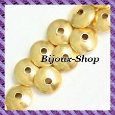 50 Perles Distanziatore a disco Ematite non magnetico 8 mm
