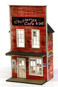 HO SCALE BANTA MODEL WORKS #2150 Chillery's Cafe FRONT ONLY.....