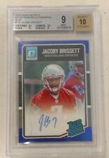 Jacoby Brissett 2016 Donruss Optic Blue Rated Rookie AUTO #58/75 BGS 9/10 Colts