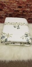 MARTHA STEWART COLLECTION TWIN QUILTED FLOOR LENGTH BEDSPREAD WHITE IVORY SAGE F