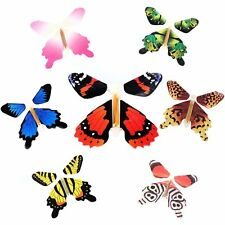 7Pcs Magic Color Flying Butterfly Transform Empty Hands Freedom Butterfly Tricks