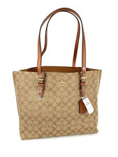 New Coach 1665 Mollie Tote In Signature Khaki Brown Leather  Bag