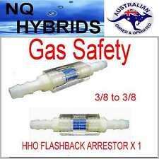 HHO FLASH BACK  SAFETY FIRST HYDROGEN GENERATOR  GAS SAFETY. FLASHBACK ARRESTOR