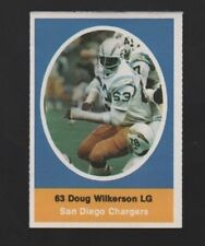 1972 SUNOCO STAMP DOUG WILKERSON SAN DIEGO CHARGERS