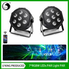 2X U`King RGBW 7 LED PAR CAN Stage Light DMX Party Wedding Bar KTV Disco DJ Show