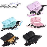 Vander 32pcs Pro Beauty Eyebrow Shadow Makeup Brush Set Kit Tool + Pouch Bag
