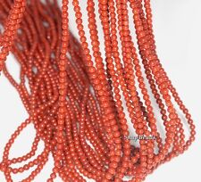2MM COLONIAL BRICK RED JASPER GEMSTONE ROUND 2MM LOOSE BEADS 16""