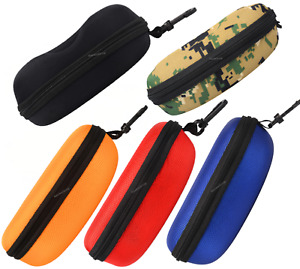 2pc Zipper Glasses Case Portable Eye Glasses Sunglasses Hard Protector Case