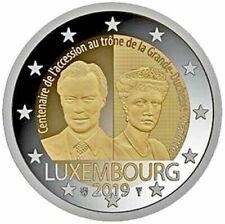 2 EURO COMMEMORATIVA LUSSEMBURGO 2019 - 100° ASCESA GRANDUCHESSA CHARLOTTE - FDC