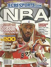 CBS Sports.com 2007 - 08 Season Preview Fantasy Hoops Magazine Only **READ**