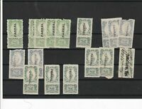 Mexico 1911-12 Revenues Mint Never Hinged + Used Overprints Stamps ref R 17887