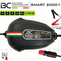 CARICABATTERIA MANTENITORE BC SMART 2000+ BATTERIA 12V PER AUTO MOTO CARAVAN