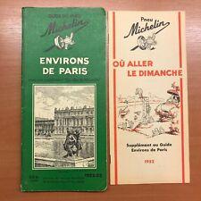 Guide Michelin Environs de Paris 1952-53 65 fr belges