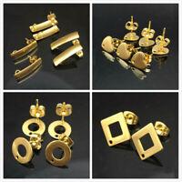 50pcs stainless steel earrings connector findings diy stud earring post Jewelry
