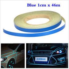 1 CM x 46 M Blu Nastro Riflettente Adesivo Auto Body a Righe Decalcomanie Autoadesivo fai da te
