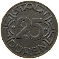 GERMANY NOTGELD 25 PFENNIG 1919 DUREN #s10 475
