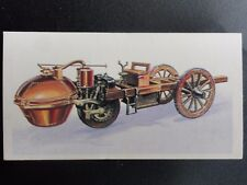 No.1 CUGNOTS 3 WHEEL STEAM TRACTOR History of the Motor Car by Brooke Bond 1968