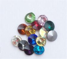 50pcs 10mm Round rhinestone crystal bead point back cut glass Multicolor diy