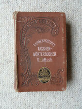 Antikes Wörterbuch Langenscheidts Taschenwörterbuch Englisch 1902