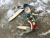 Swiss Army Knife Victorinox Spartan Custom Captain America ( Avengers)