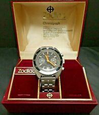 Zodiac 73463 Poor Men's Heur Autavia Orange Boy Watch Chronograph Valjoux 7734