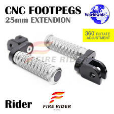 CNC 25mm Extension Front Footpegs POLE For Triumph Street Triple 675 / R 07-14