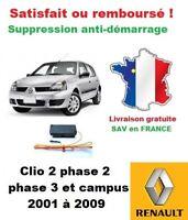Boitier antidémarrage Supprime l'anti-demarrage des Renault Clio 2 phase 2 et 3