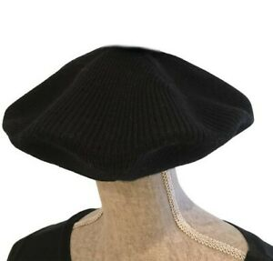 BERET FRENCH STYLE HAT CAP BLACK WOMENs MENs RASTA REGGAE