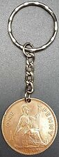 Upcycled 1948 Old Penny Key Ring / Keychain - Names & Initials Stamped to Order