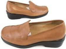 Nuture Women Shoes 6.5 M Slip On Comfort Loafers Gel Cushion Insole Tan Leather