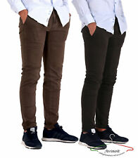 Pantalone Uomo Cotone Chino Jeans SlimFit Casual Elegante Calssico Tasca America
