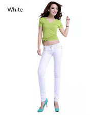 Women Sexy Skinny Jeggings Stretchy Pants Leggings Pencil Tight Trousers Bottoms